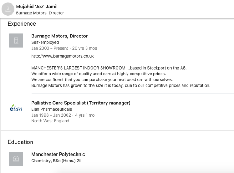 Mujahid 'Jez' Jamil LinkedIn