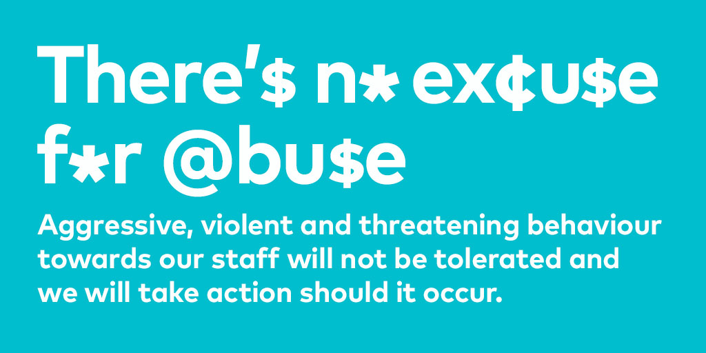 There's no excuse for abuse