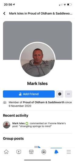 Mark Isles 'strangling' Arooj